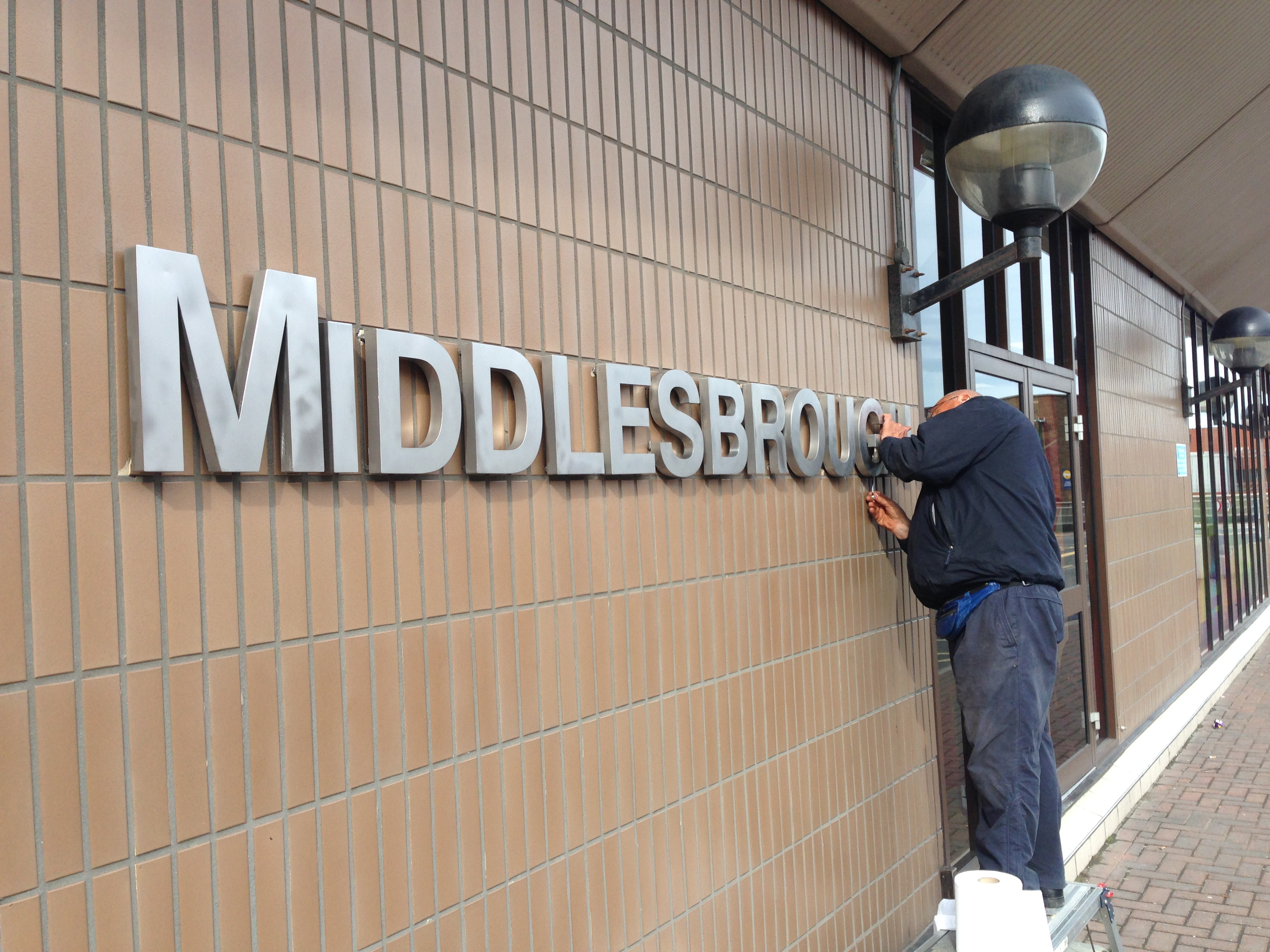 Stainless Steel Letters Hartlepool and Peterlee
