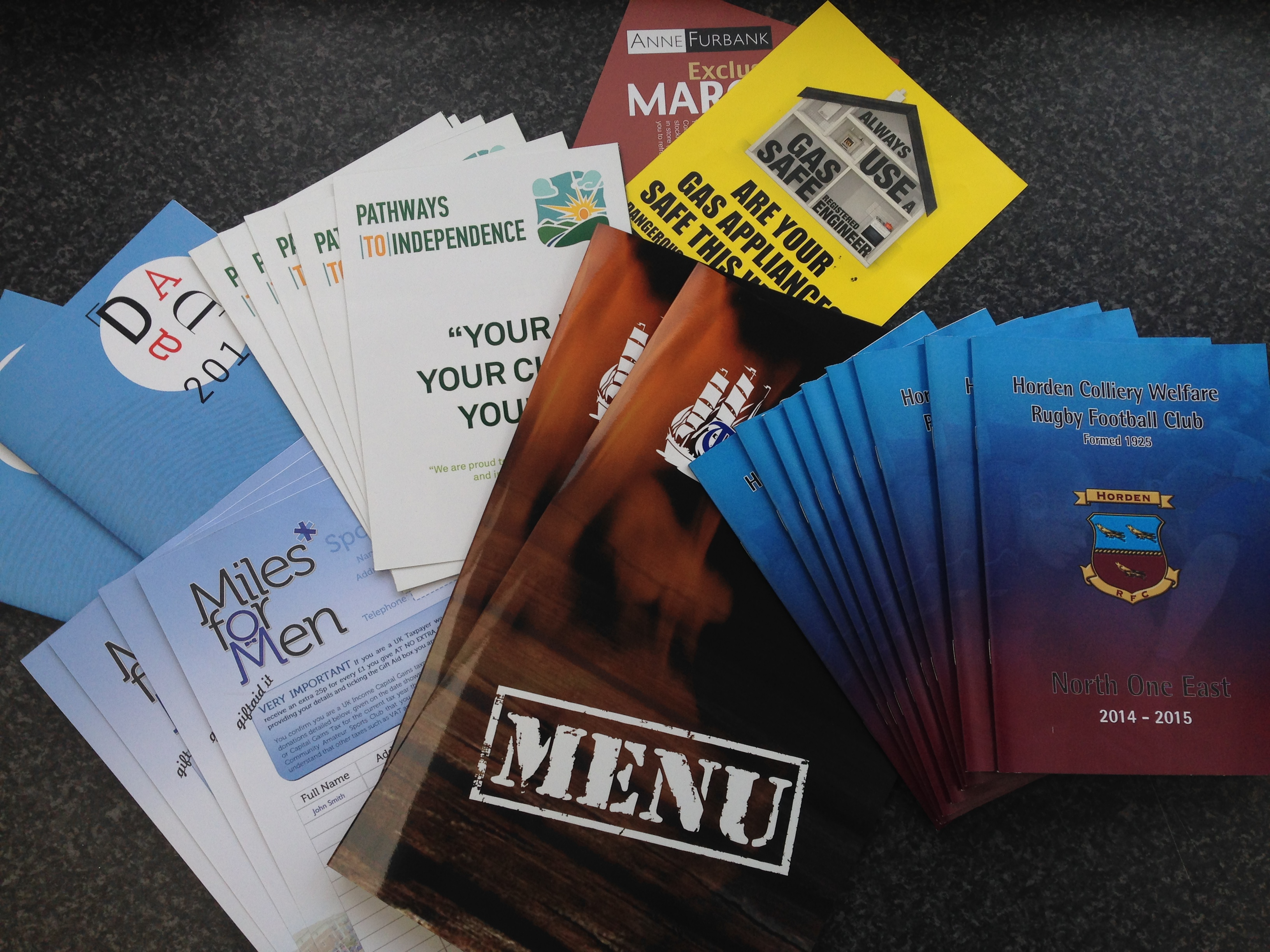 Printing Menus, Leaflets, Programs and Booklets Hartlepool