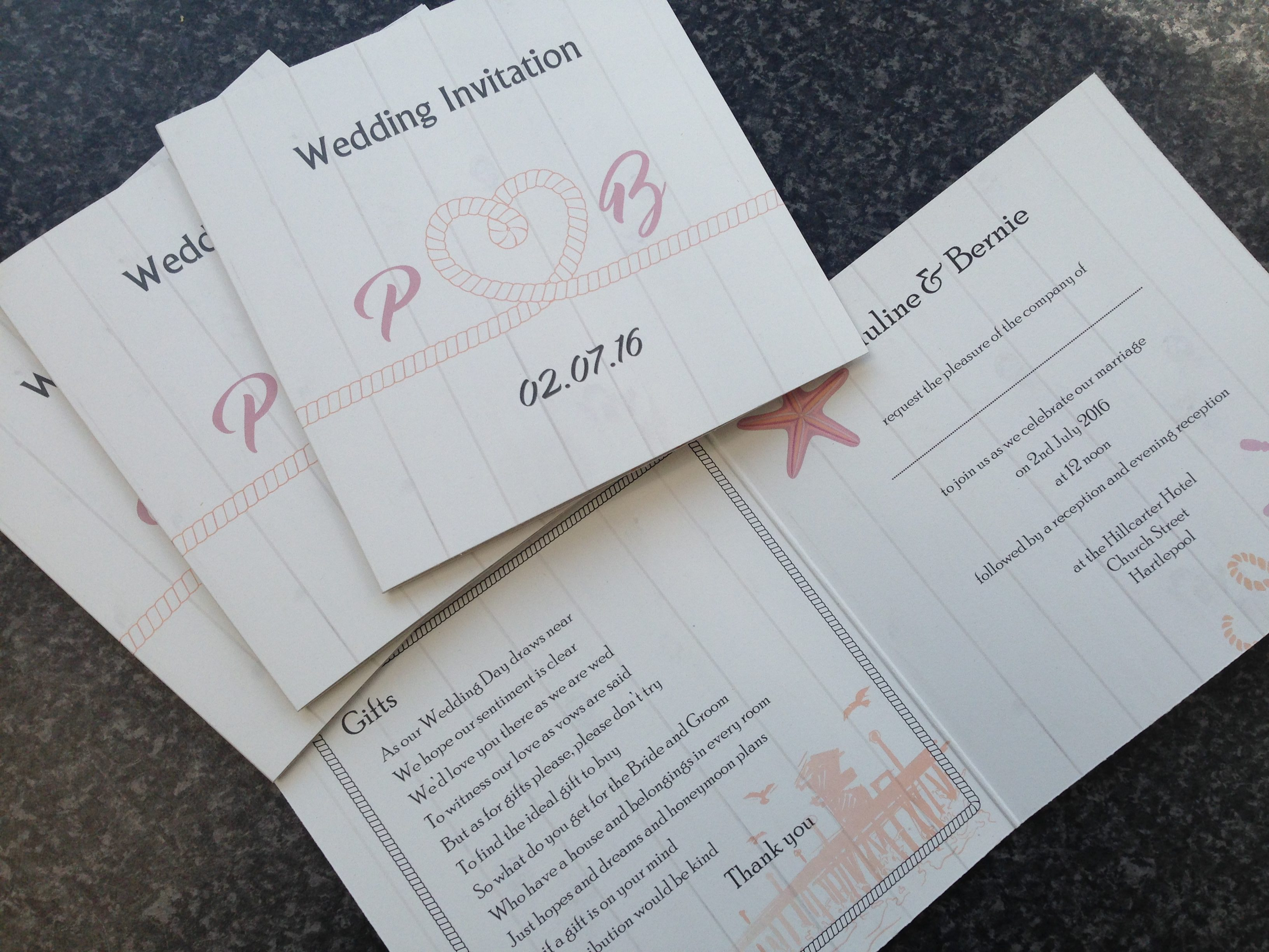 JamesPRINT wedding invitations Hartlepool